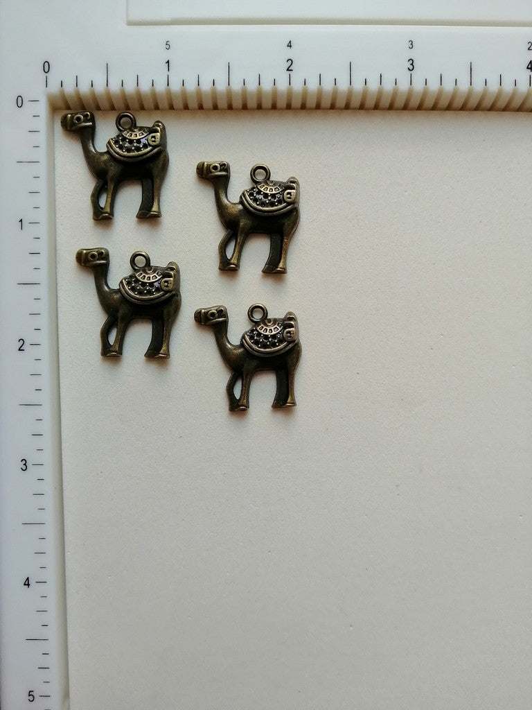 Metal Charms - Camel, 4 Pcs