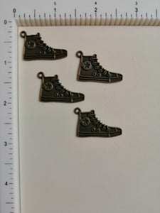 Metal Charms - Shoe, 4 Pieces