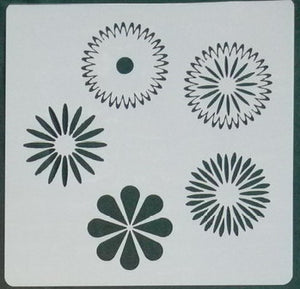 Stencil - More Flowers - 5*5