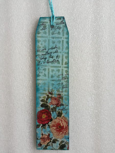 Bookmark - Flower with Blue Background 2