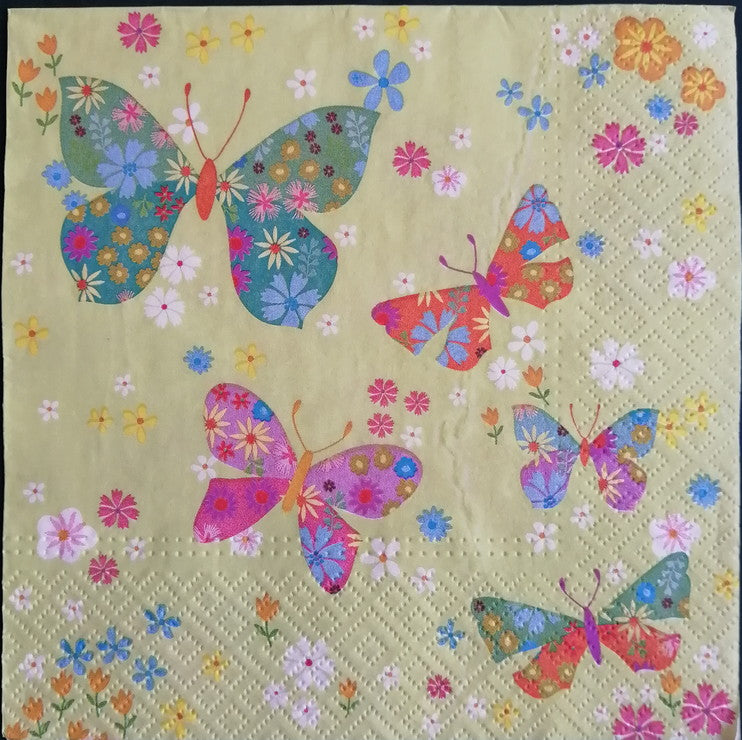 Butterfly with Green Background 33 X 33 cm