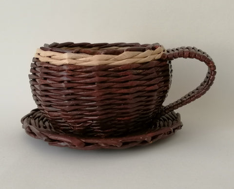 Cup N Saucer - Small - Brown
