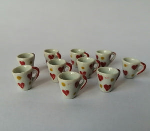 Miniatures - Cup - Ceramic, 10 pieces