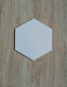 Acrylic Coaster - Hexagon - 4""