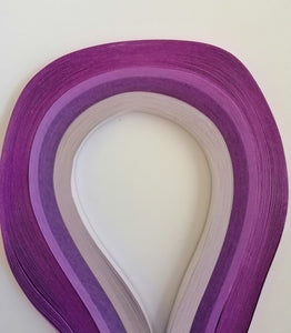 Quilling Strips - Purple Combo - 5mm