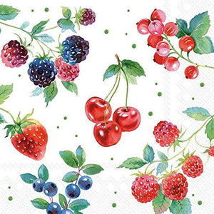Red Summer Fruits 33 X 33cm