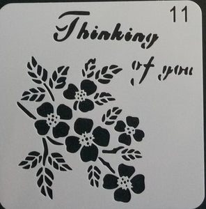 Stencil - Thinking of You - 5*5