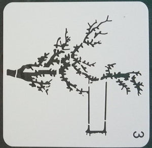 Stencil - Tree with Swing - 5*5