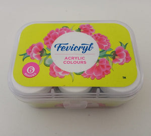 Fevicryl Acrylic Colours - 6 Shades