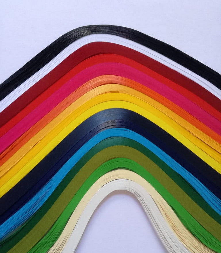 Quilling Strips - Assorted - 3mm