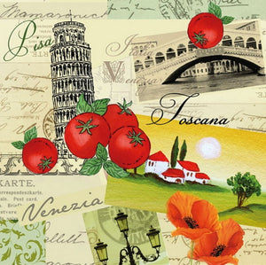 Collage Italian 33 X 33 cm