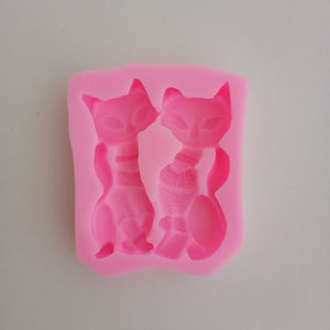Silicon Mould - Couple Cat