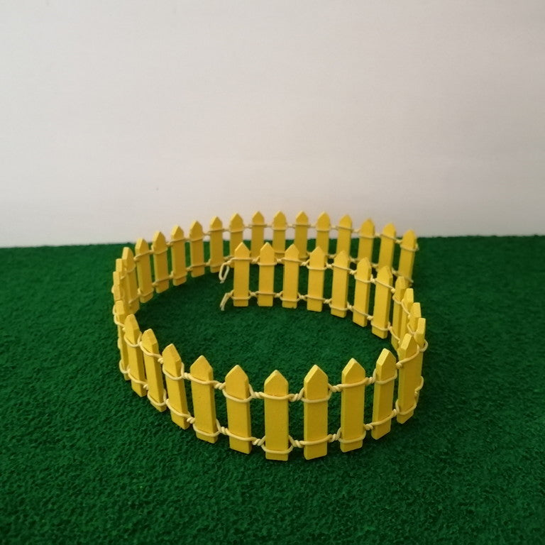 Miniature Fence - Yellow
