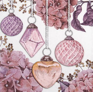 Hanging Baubles Rose 33 X 33 cm