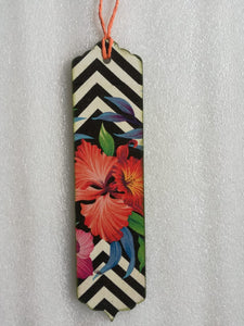 Bookmark - Hibiscus with Black n White