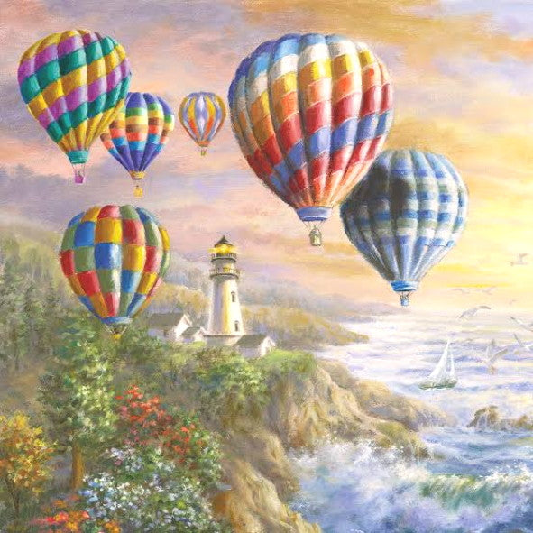 Hot Air Balloons 33 X 33 cm