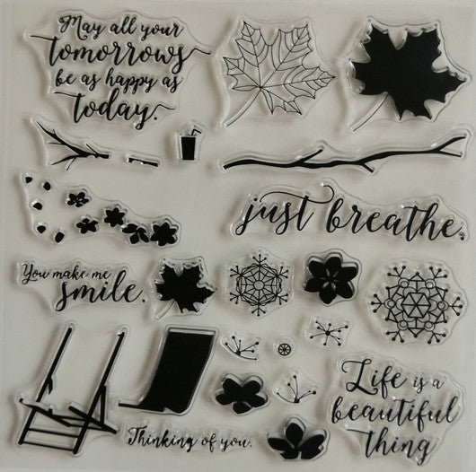 Clear Stamp - Leaves 5.5 X 5.5 Inches