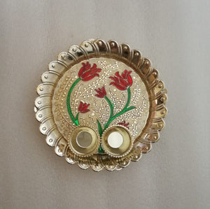 Puja Plate - Round Small
