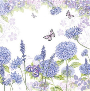 Purple Wild Flowers 33 X 33 cm