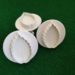 Plunger Cutter - Rose Leaf, 3 Pieces