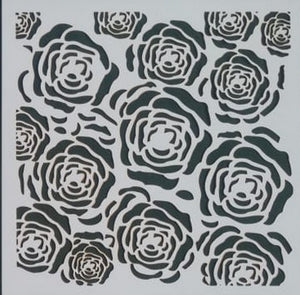 Stencil - Roses - 6*6