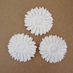 Clay Embellishment - Sunflower 2 - Set of 3
