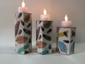 Decoupage Tealight Holder - Hexagon