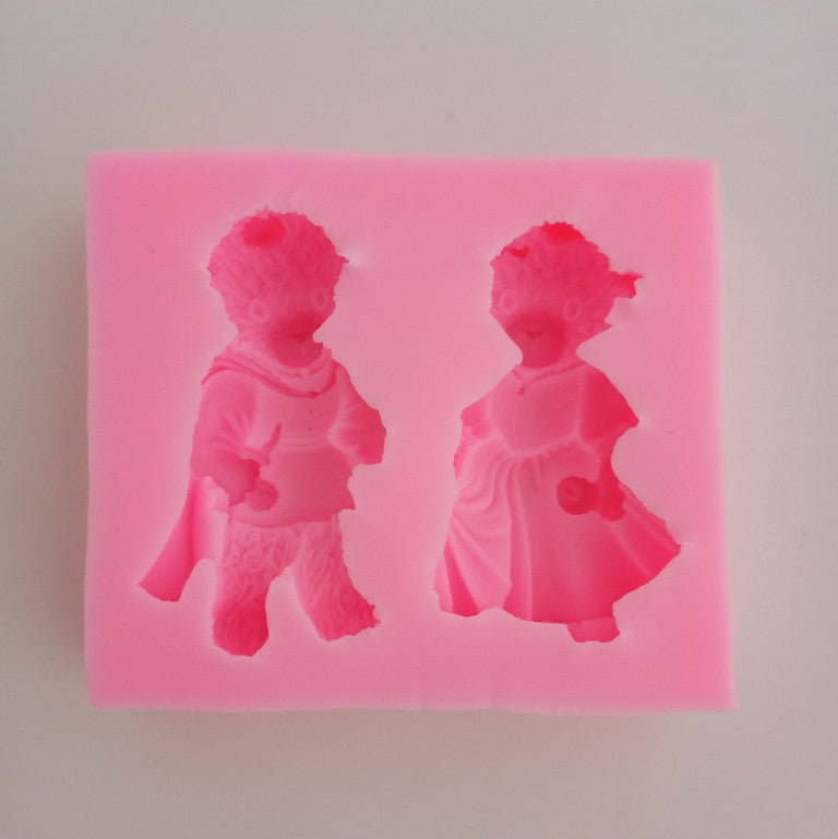 Silicon Mould - Teddy Couple