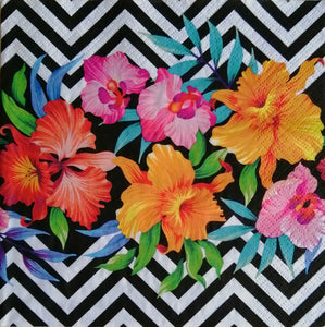 Tropical Flowers 33 X 33 cm