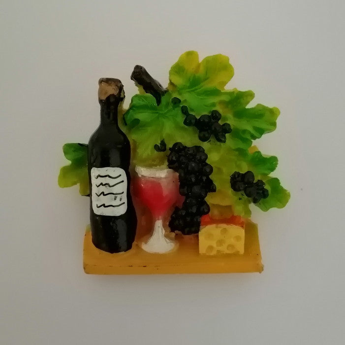 Fridge Magnet - Wine n Cheese