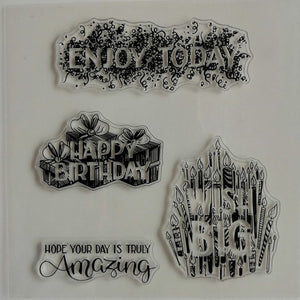Clear Stamp - Wish Big 5.5 X 5.5 Inches