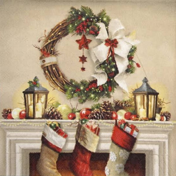 Wreath And Socks 33X 33 cm