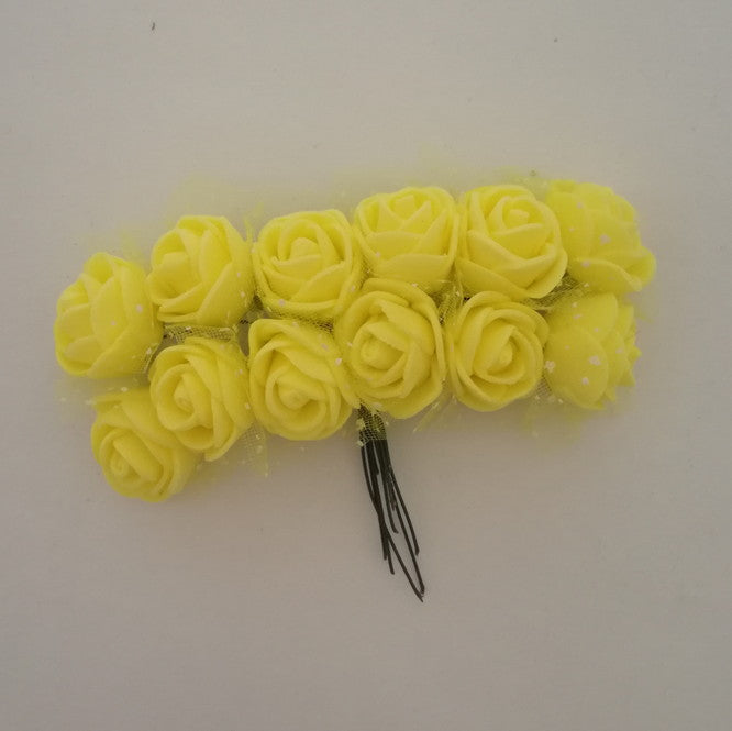 Foam Flowers - Yellow