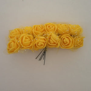 Foam Flowers - Golden Yellow