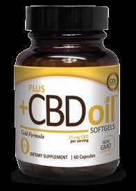 PlusCBD Oil GOLD 15mg Capsules (60c) - BEST PRICE!
