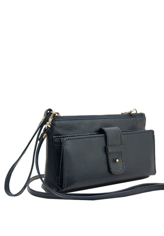 Angelyn with Shoulder Strap, Blue