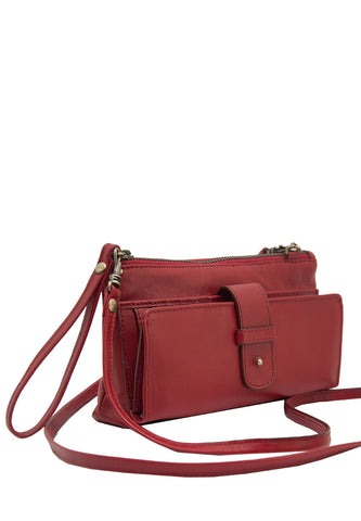 w Angelyn with Shoulder Strap, Red Bi-Component