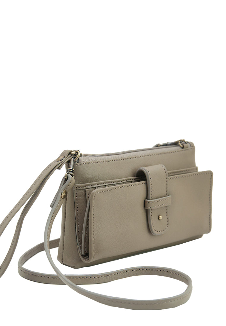 Angelyn with Shoulder Strap, Taupe