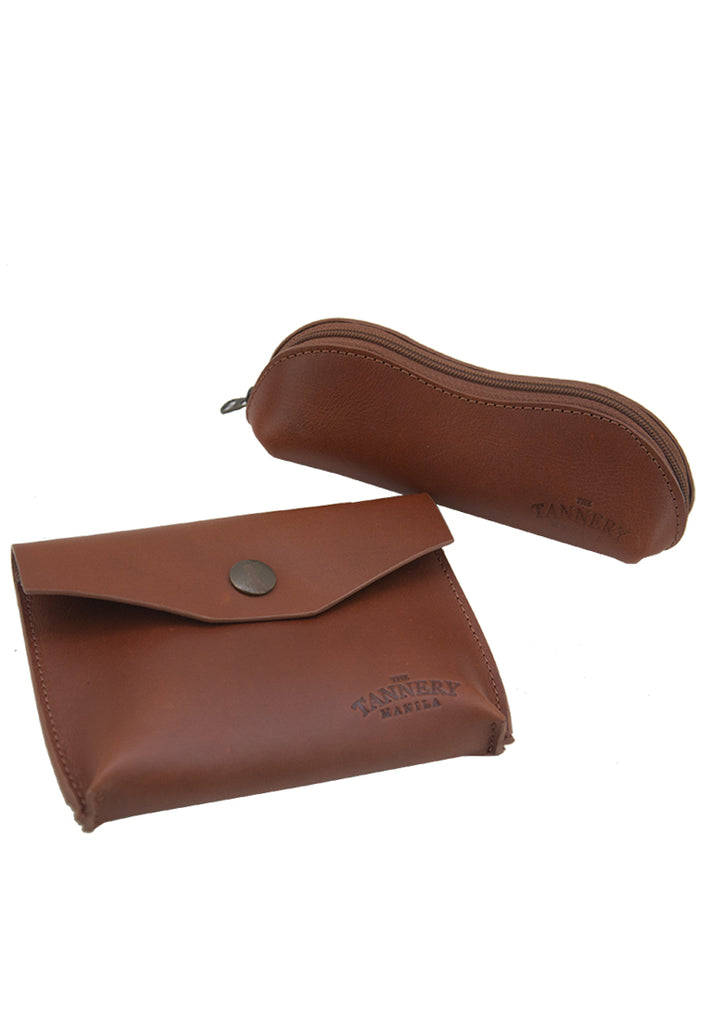Ethan & Nica Gift Set, Saddle Tan