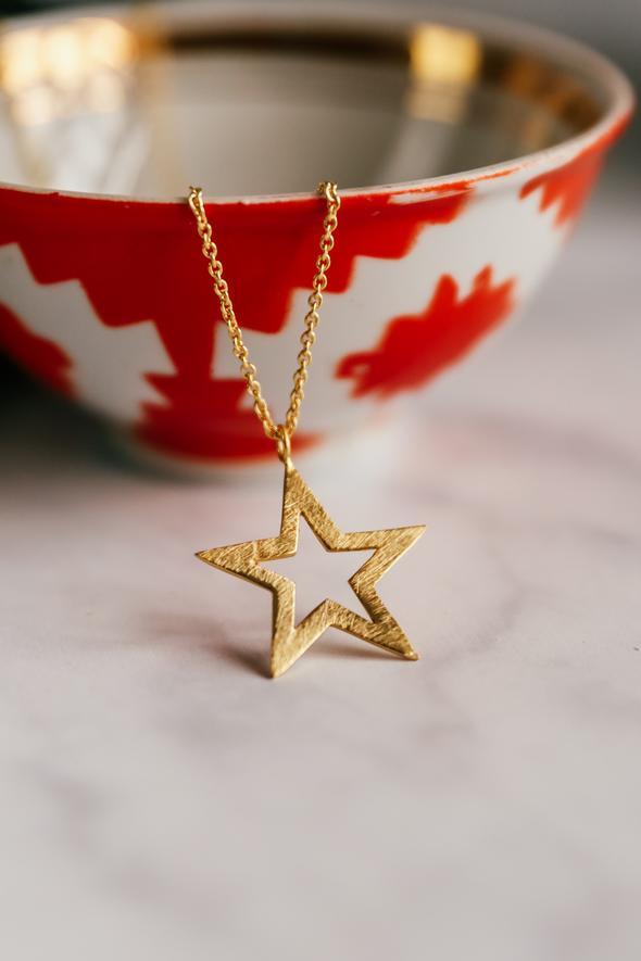 Star Outline Necklace