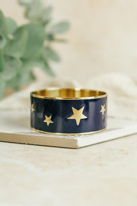 Starry Enamel Bangle