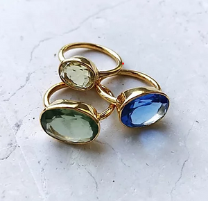 Oval Chunky Cocktail Ring