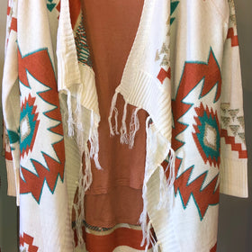 Aztec Knitted Cardigan