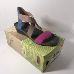 Naot Leather Cross Strap Sandal Size 9-9.5 - Outlet Express