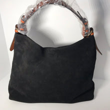 Load image into Gallery viewer, Dooney & Bourke Black Suede Cooper Hobo - Outlet Express