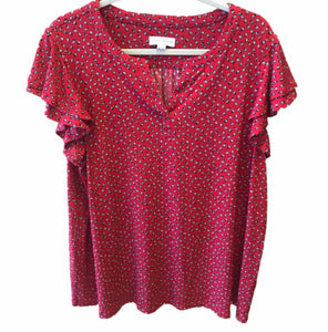 Susan Graver Lady Bug Printed Liquid Knit X-Large