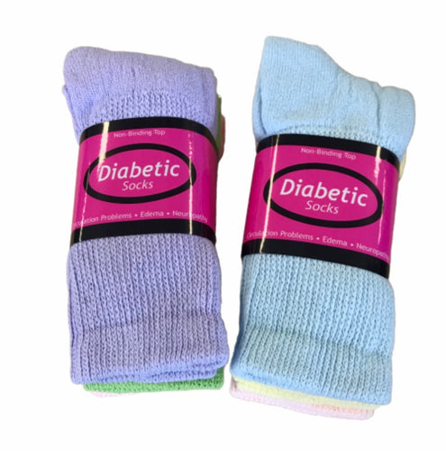 Women's Non Binding Diabetic Socks 3 Pairs