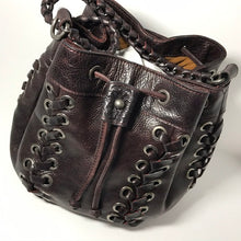 Load image into Gallery viewer, Patricia Nash Leather Drawstring Satchel - Outlet Express