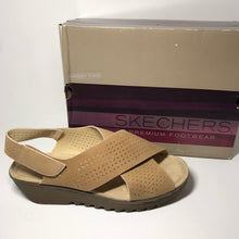 Load image into Gallery viewer, Sketchers Suede Slingback Wedges 9.5W - Outlet Express