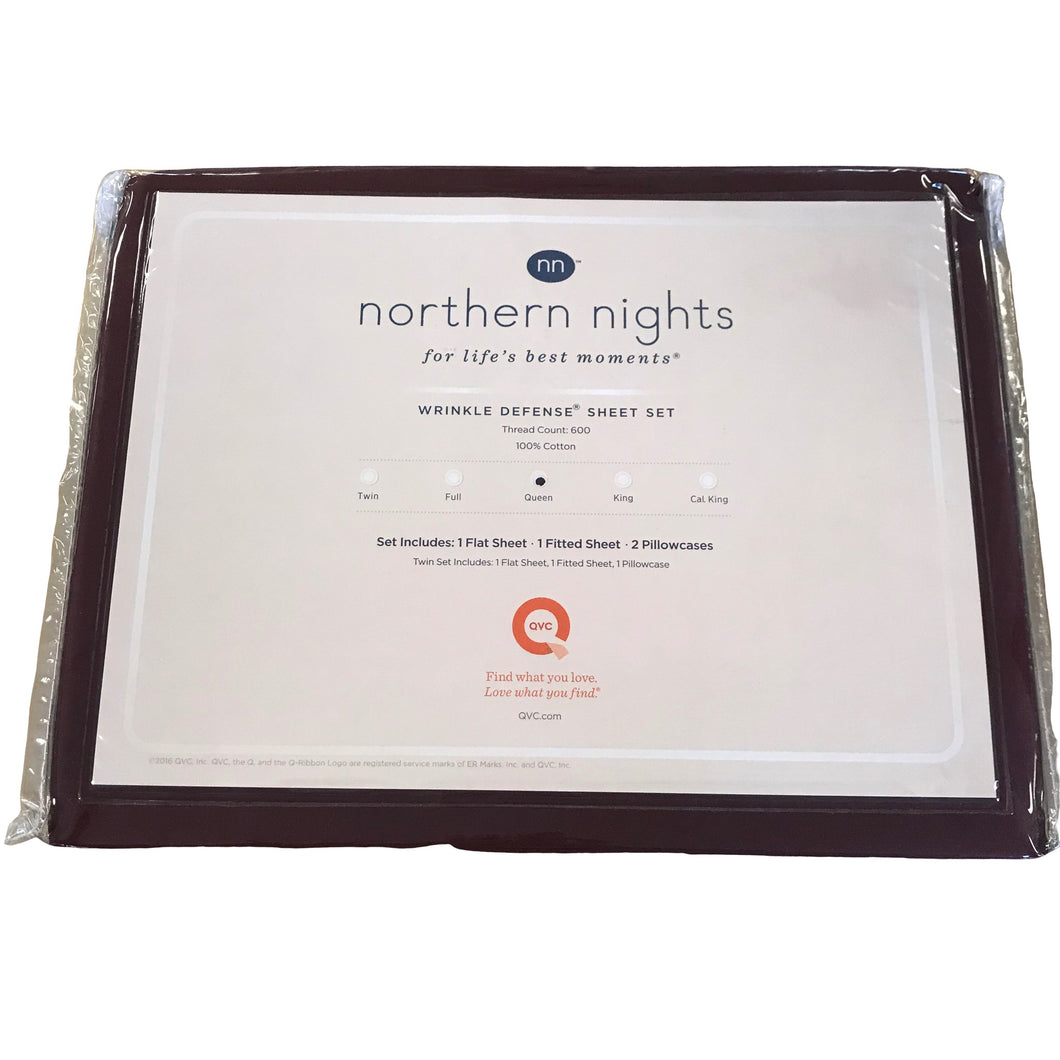 Northern Nights 600TC Wrinkle Defense Queen - Outlet Express